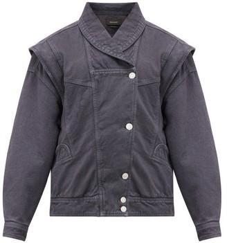 Isabel Marant Eriala Detachable-sleeve Denim Jacket - Womens - Black