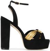 Stuart Weitzman Kayley crossover strap sandals