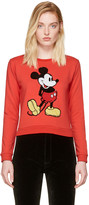 Marc Jacobs Red Shrunken Sequin Mickey Mouse Sweatshirt