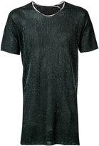 Label Under Construction arched printed T-shirt - men - Cotton/Linen/Flax - 48