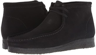 Clarks Wallabee Boot (Black Suede) Men's Shoes