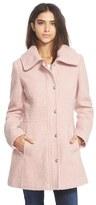 Jessica Simpson Women's Basket Weave Fit & Flare Coat