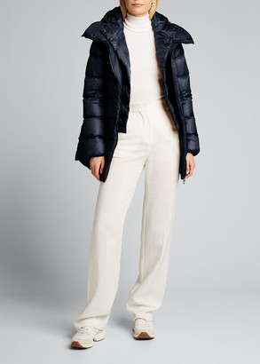 Moncler Anges Mid-Length Coat w/Bib