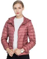 Jackcsale Women's Hooded Packable Ultra Light Down Jacket Coat Puffer