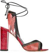 Jean-Michel Cazabat snakeskin effect sandals - women - Calf Leather/Leather - 36