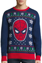 NOVELTY SEASON Novelty Season Crew Neck Long Sleeve Spiderman Cotton Blend Pullover Sweater