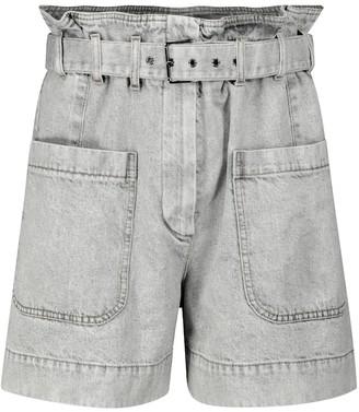 Brunello Cucinelli Paperbag denim shorts