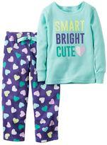 Carter's Baby Girl Thermal Top & Fleece Pants Pajama Set