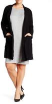 Bobeau Drape Woven Jacket (Plus Size)