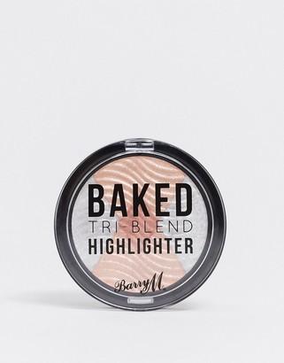 Barry M Tri-Blend Baked Highlighter - Silver Solstice