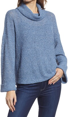 Gibson Flare Sleeve Cowl Neck Sweater