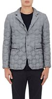 UAS - Under Armour Sportswear Men's Sharkskin-Effect Down-Quilted Rowing Jacket-GREY