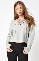 KENDALL + KYLIE Kendall & Kylie XL Grommet Pullover Sweater