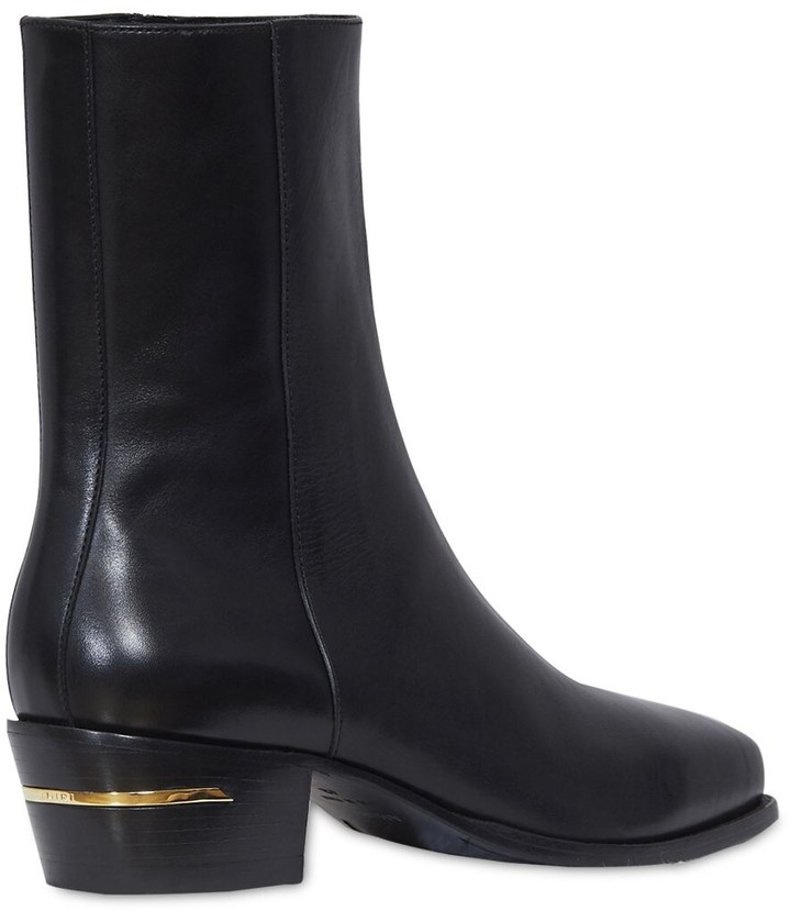 Thumbnail for your product : Amiri Leather Square Toe Boots