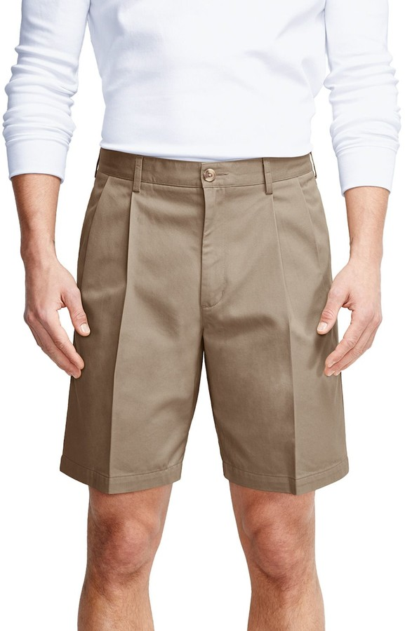 Mens Khaki Pleated Shorts | Shop the world's largest collection of fashion  | ShopStyle