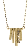 Ariko Textured Diamond Lava Bar Pendant Necklace