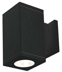 W.A.C. Lighting Cube Architectural LED Outdoor Armed Sconce Fixture Finish: Black