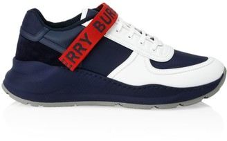 Burberry Ronnie Logo Leather & Suede Sneakers