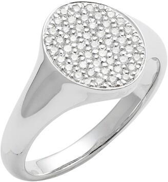 Bony Levy Pave Diamond Signet Ring