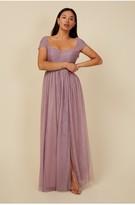 Thumbnail for your product : Little Mistress Bridesmaid Mariah Mauve Sweetheart Maxi Dress