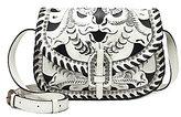 Patricia Nash Vintage White Washed Collection Nardini Saddle Bag