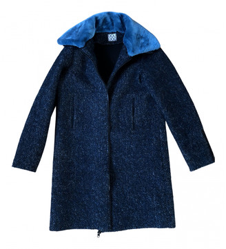 Douuod Blue Wool Coats