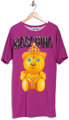 Moschino Golden Bear T-Shirt Dress