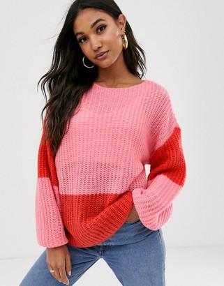 Vila colour block jumper-Multi
