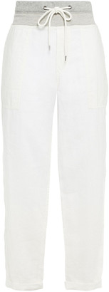 James Perse Cropped Linen Tapered Pants