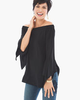 Chico's Off-the-Shoulder Tie-Sleeve Top
