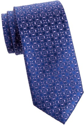 Charvet Neat Abstract Circle Silk Tie