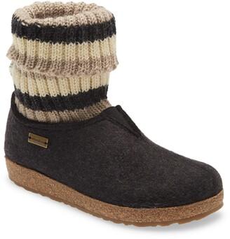 Haflinger Kristina Knit Sock Slipper Bootie