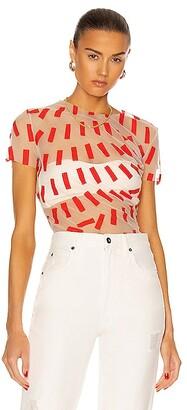 Maison Margiela Short Sleeve T Shirt in Red