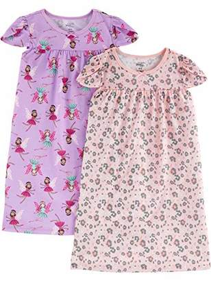 Carter's Simple Joys by Girls' Little Kid 2-Pack Nightgowns