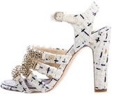 Chanel 2016 Tweed Multistrap Sandals w/ Tags