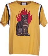 Gucci Flame Tabby Cat Motif T-shirt