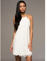 Macbeth White Lacey Halter Dress.