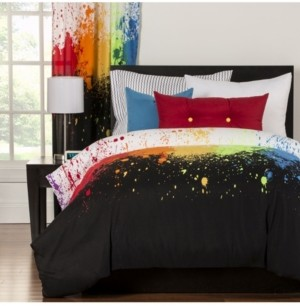 Crayola Cosmic Burst 6 Piece Queen Luxury Duvet Set Bedding
