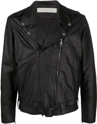 Giorgio Brato Belted Waist Biker Jacket