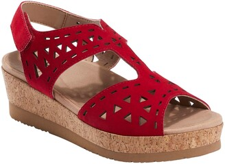 Earth Buran Rosa Wedge Sandal