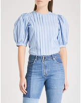 Sandro Puff-ball sleeves cotton blouse