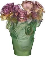 """Daum Small """"Rose Passion"""" Vase"""