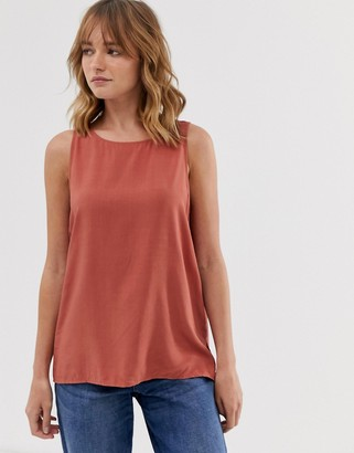 Weekday tank top in light rust