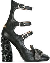 Gucci Queercore brogue pumps - women - Calf Leather/Leather/Metal (Other) - 37.5