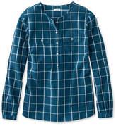L.L. Bean Cotton Henley Pullover, Long-Sleeve Windowpane