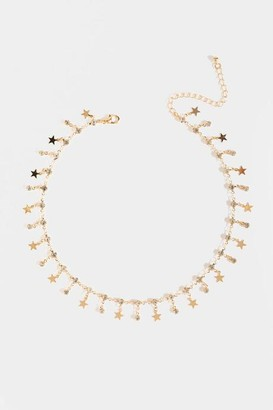 francesca's Reese Star Station Necklace - Gold