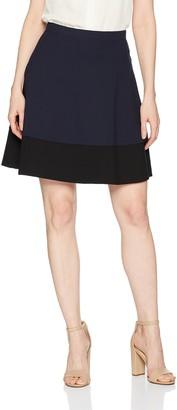 Three Dots Women's Ponte Colorblock Short Skirt