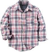 Carter's Twill Plaid Button-Front Shirt