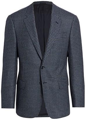 Giorgio Armani Check Wool Blazer