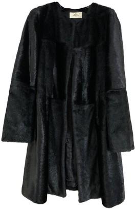 Urban Code Urbancode Black Faux fur Coat for Women